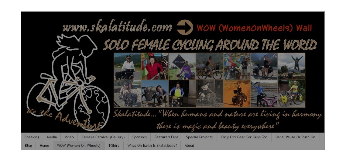 Loretta Henderson solo female cyclist women on wheels wall (WOW)
