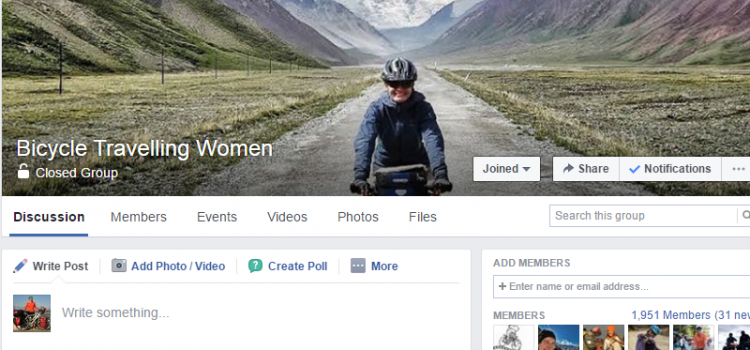 Bicycle Travelling Women Forum