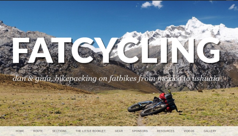 fatcycling-website Dan and Gina Bikepacking the South America