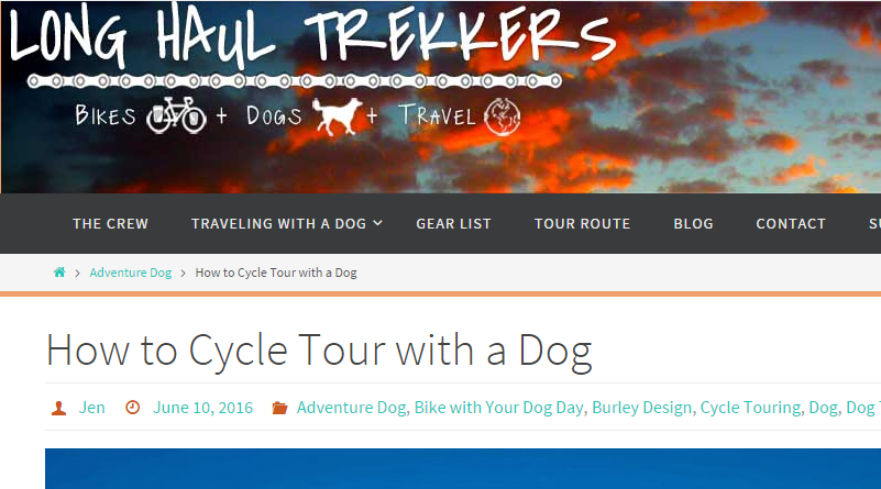 long-haul-trekkers bicycle touring around the world with a dog